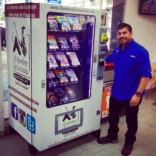 maquina expendedora de libros vending