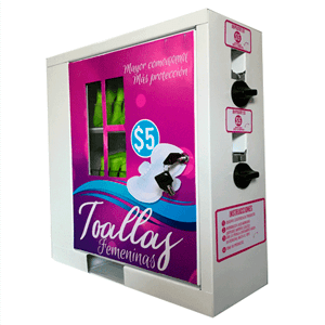 maquina expendedora vending toallitas femeninas méxico